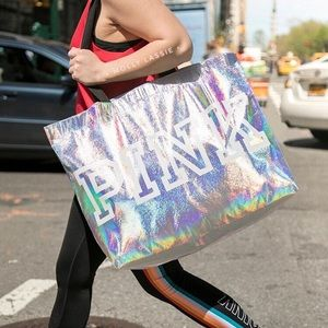 VS PINK 💕 HOLOGRAPHIC IRIDESCENT TOTE BAG